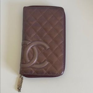💯 Authentic Chanel Cambon Large Zipper Wallet